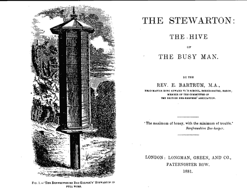 The Stewarton Hive: The Hive of the Busy Man, by the Rev E. Bartrum, M.A., 1881